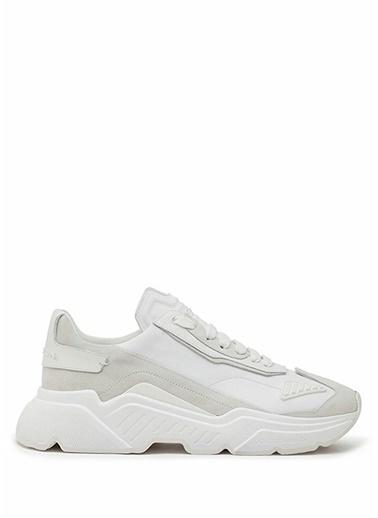Dolce&Gabbana Dolce&Gabbana Daymaster  Logolu Erkek Deri Sneaker 101479271 Beyaz